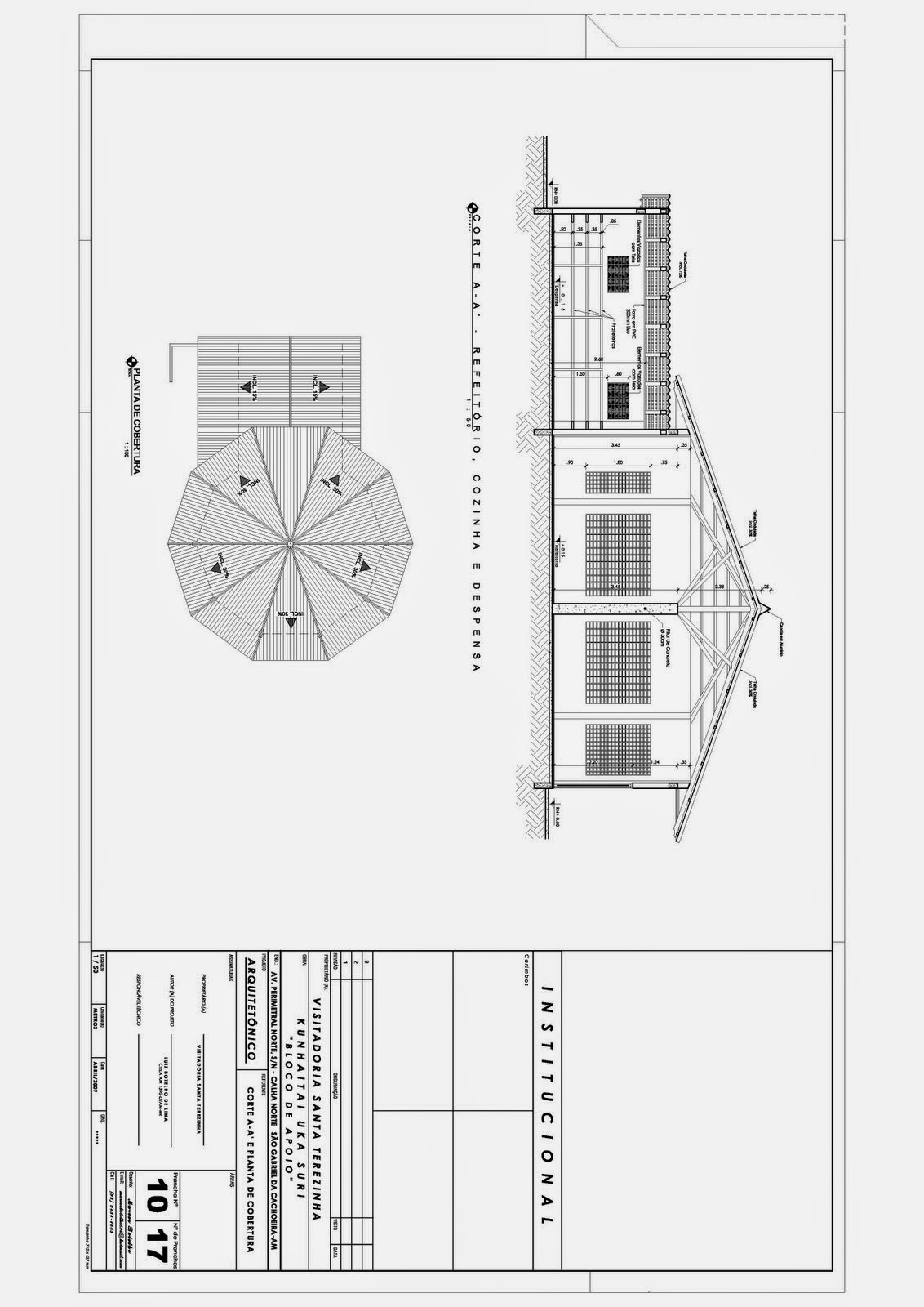 Projetos Religiosos: Projeto Religioso Planta Baixa Corte e Planta  #373737 1132 1600