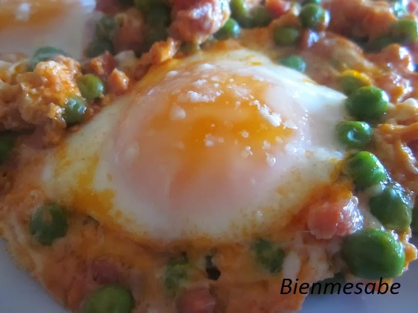 Huevos rápidos con jamón