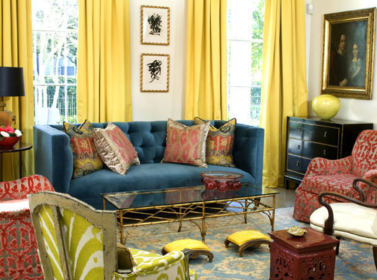 Red and Yellow Living Room
