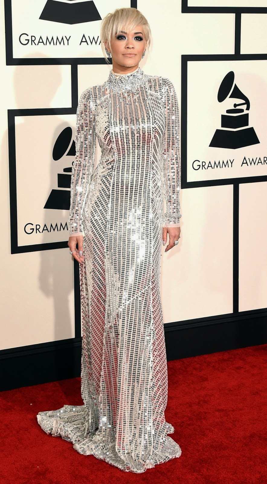 Rita Ora 2015 Grammy Red Carpet