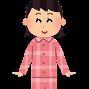 パジャマを着た女の子のイラスト