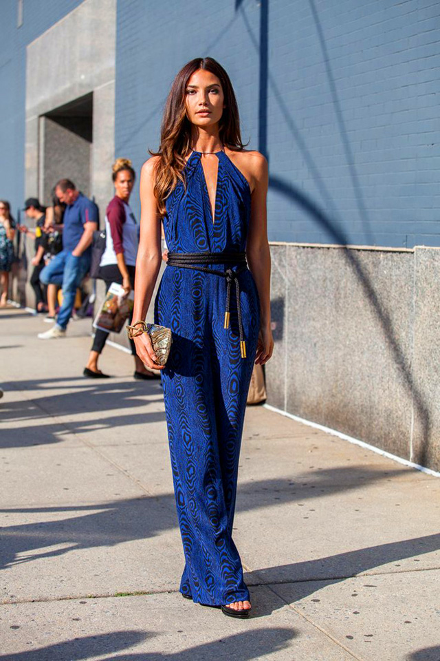 Lili Aldridge how to wear jumpsuit trend street style