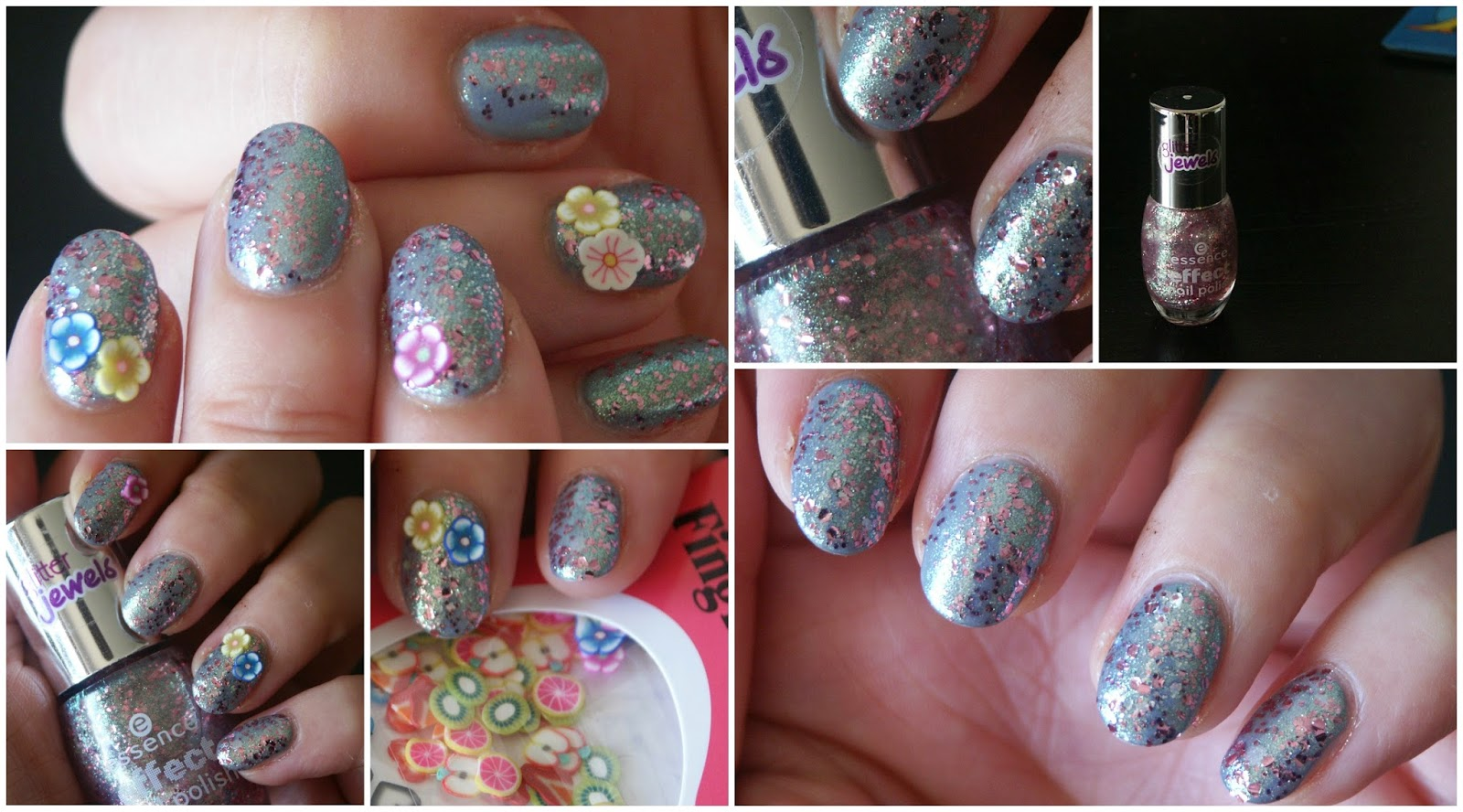 Girly Flower Nails