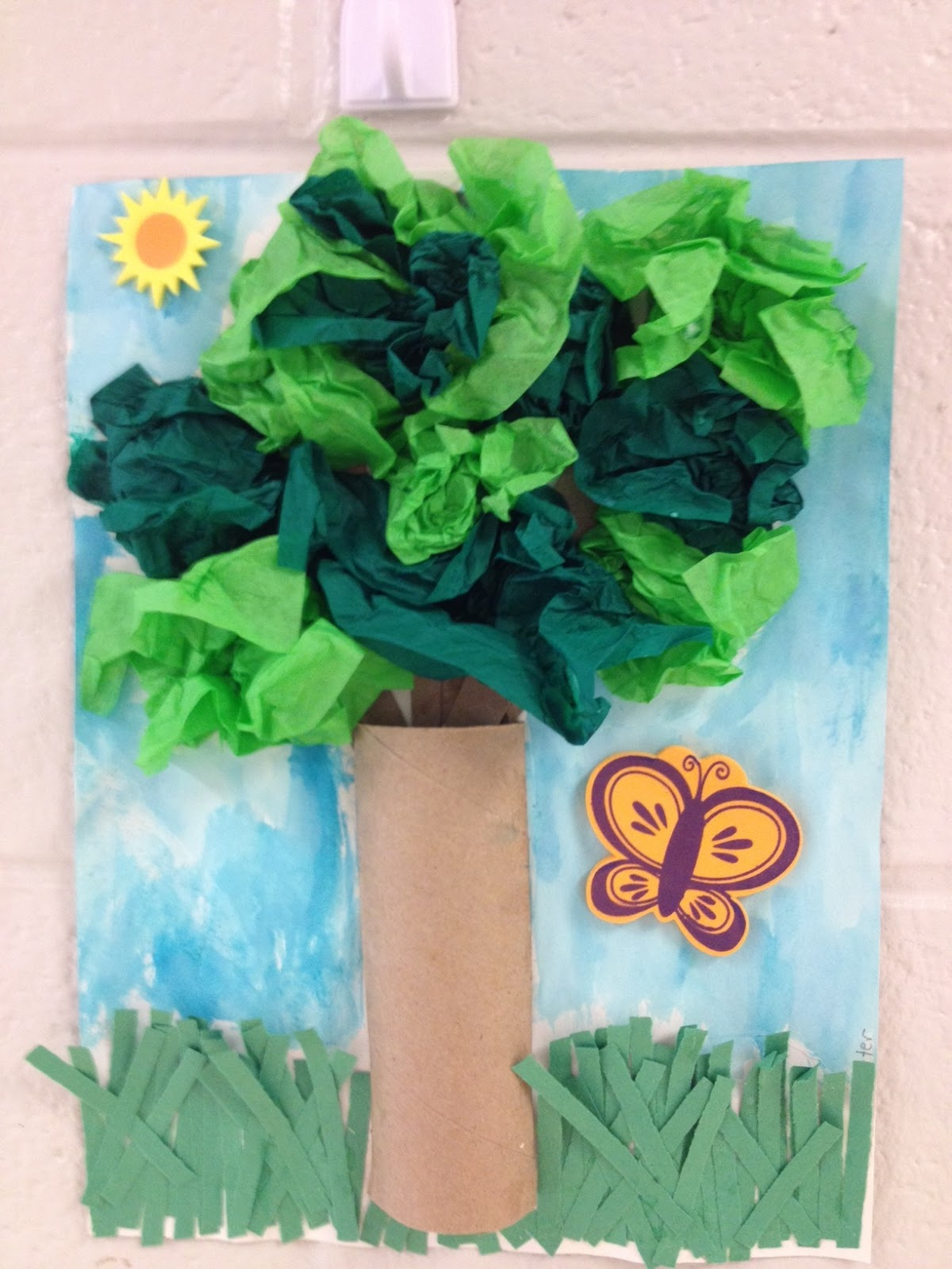 how to make tissue paper leaves