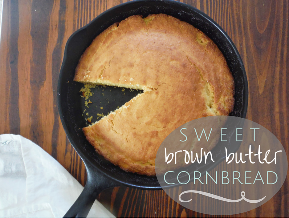 Sweet Brown Butter Cornbead