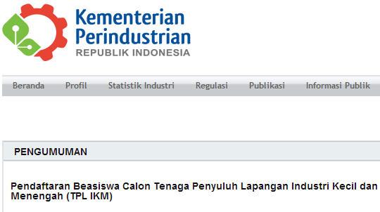 Program Beasiswa TPL IKM
