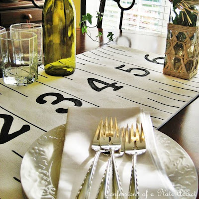 Ruler Table Runner Country Living Inspired, Confessions of a Plate Addict