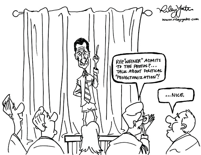 Representative Weiner cartoon, Twitter cartoon, Politician cartoon