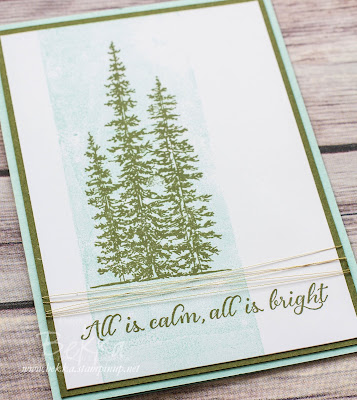 Fast and Fabulous Christmas Card using Wonderland from Stampin' Up! UK