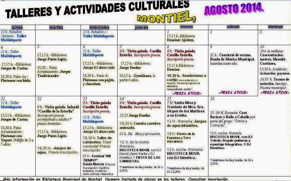 UNIVERSIDAD POPULAR DE MONTIEL: ACTIVIDADES PARA PEQUEÑOS Y MAYORES ...