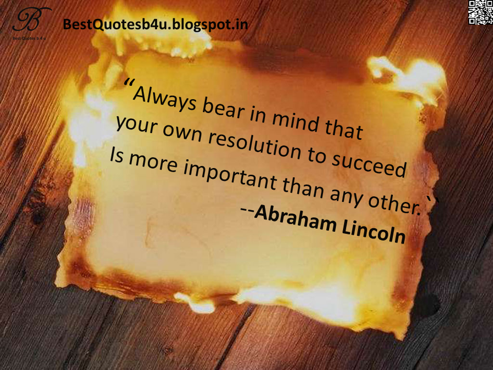 Best English Quotes about inspiration and Succes by Abraham Lincoln with nice images and wallpapers