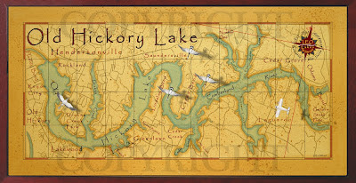 Old field studio painting of old hickory lake old style for Old hickory lake fishing