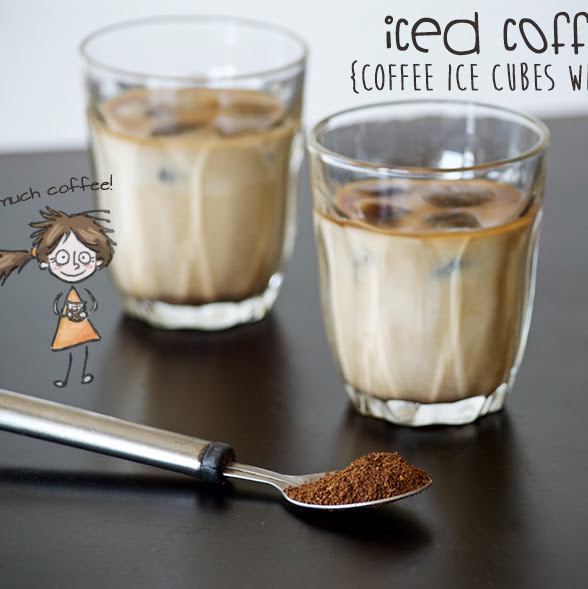 Iced Coffee: Coffee Ice Cubes and Milk