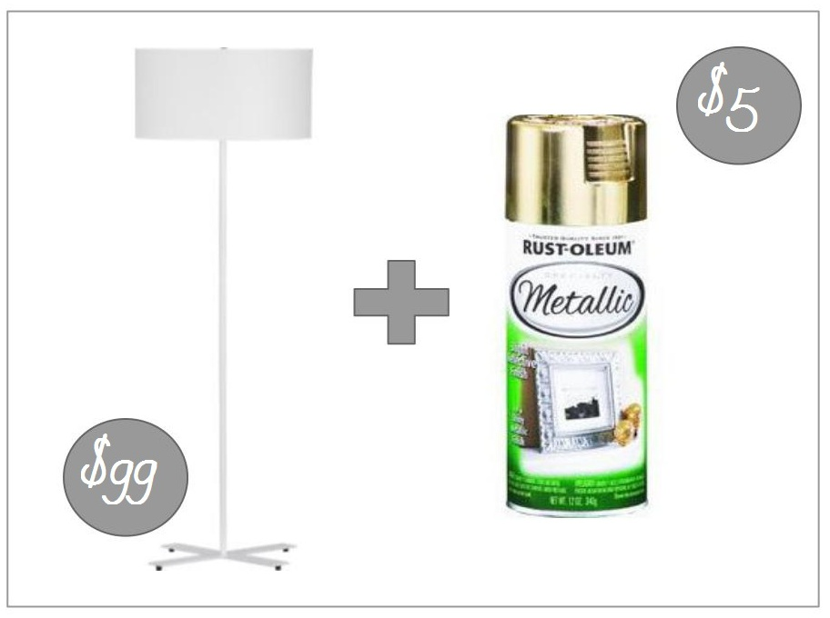 metallic gold spray paint via home depot why spray paint the lamp. Black Bedroom Furniture Sets. Home Design Ideas