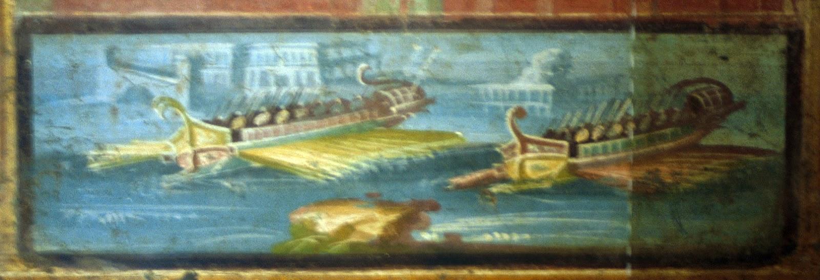 Detalle del fresco del templo de Isis en Pompeya