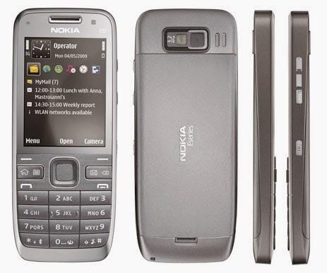 Мобильный телефон Nokia E52 Silver для корпоративной связи и синхронизацией с удаленными серверами