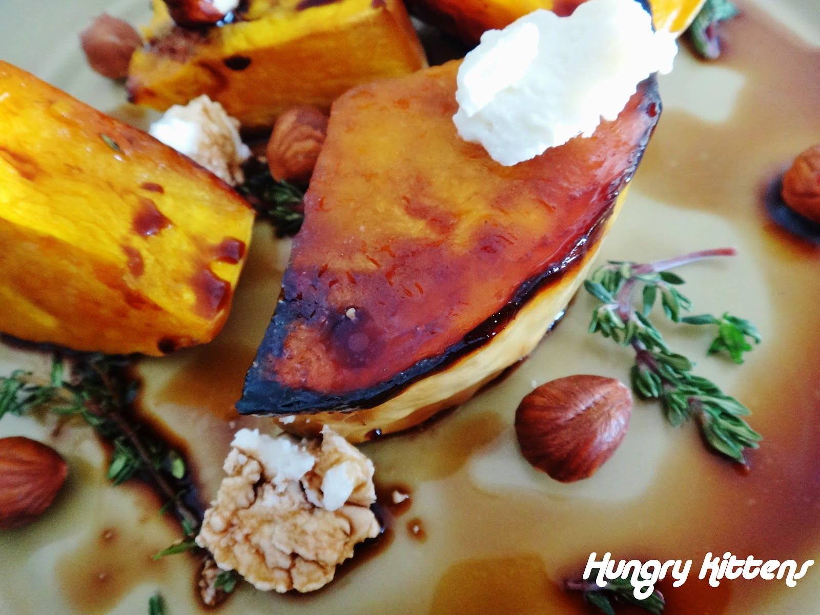 Hungry Kittens: Honey Roasted Pumpkin with Goat's Cheese ...