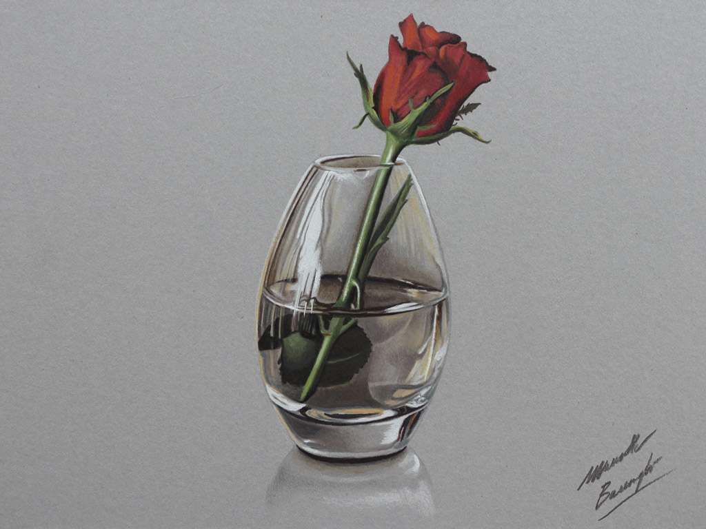 Realistic Red Rose Drawing Images amp Pictures Becuo
