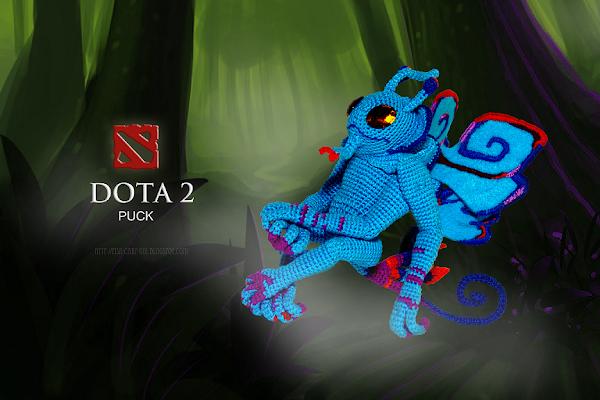 Puck - The Fairy dragon (Dota 2): crotchet plush toy Пак - Волшебный дракон (Дота 2): мягкая игрушка вязаная крючком