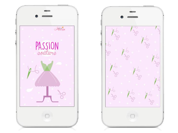 fonds d'écran smartphone diy septembre couture