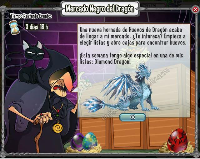 imagen del dragon diamante en el mercado negro del dragon