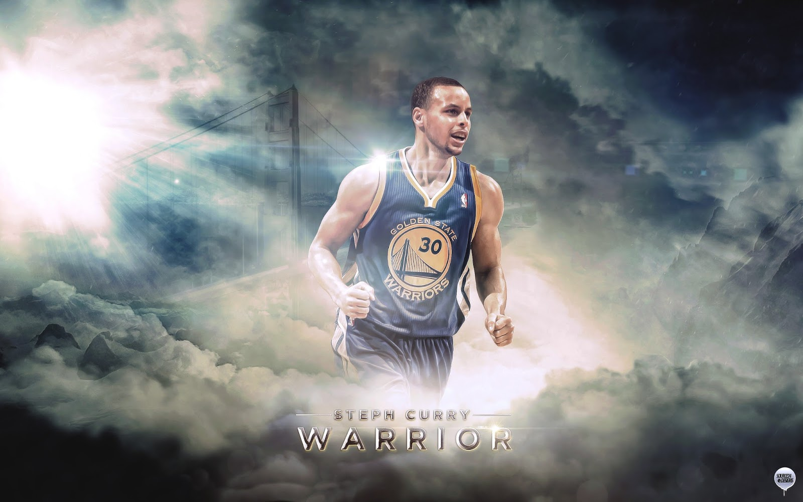 Stephen Curry Basketball Player Wide