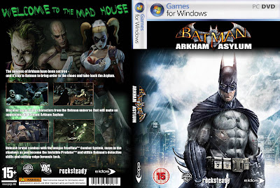 Batman Arkham Asylum PC DVD Capa