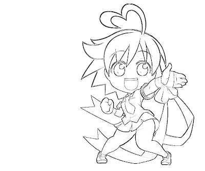chibi pretty mermaid coloring pages - photo#19