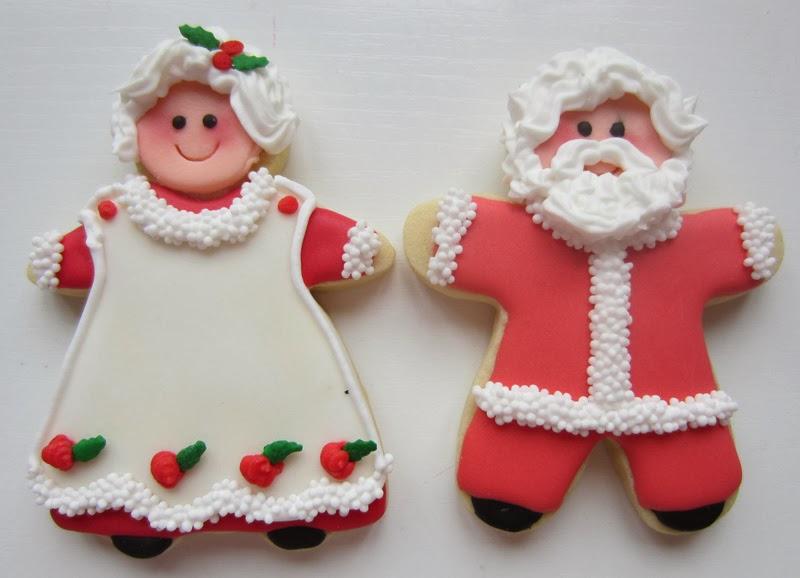 Galletas navidad de vainilla decoradas  con glasa