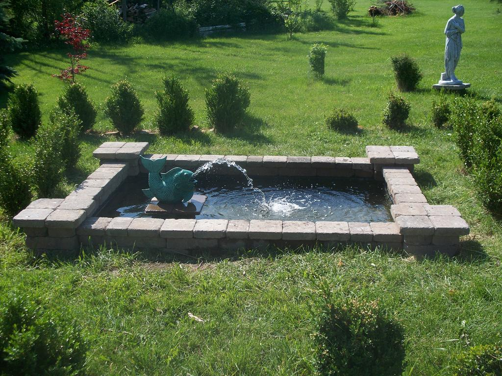 Old Victorian House Building A Formal Pond