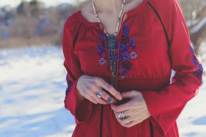 eShakti-dress-boho-winter-braid