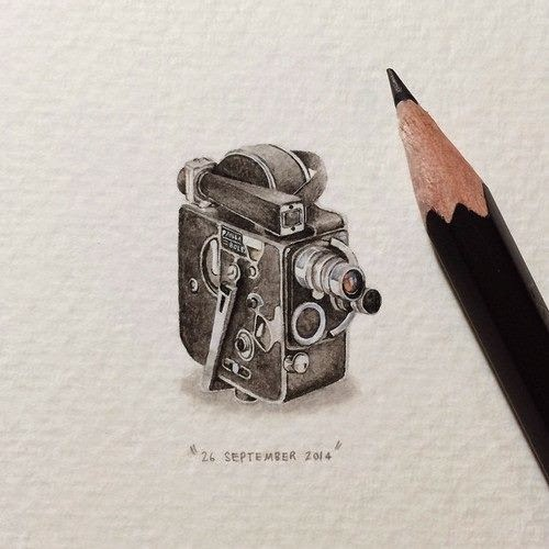 31-Bolex-Camera-Lorraine-Loots-Miniature-Paintings-Commemorating-Special-Occasions-www-designstack-co