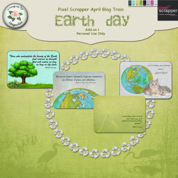"PixelScrapper blogtrain ""Earth Day"" by Magnolia Patch"