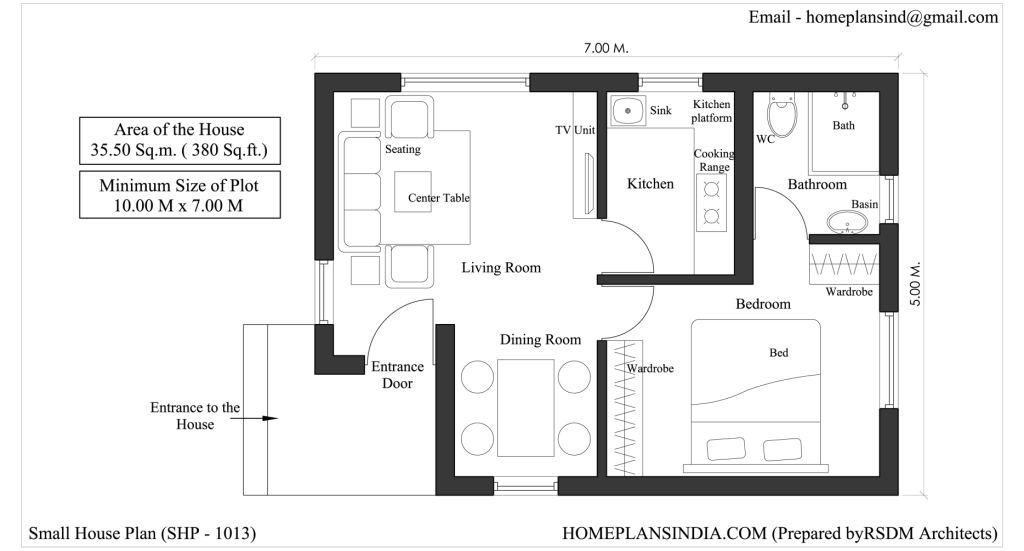 20x40 one bedroom house plans joy studio design gallery for House plan for 20x40 site