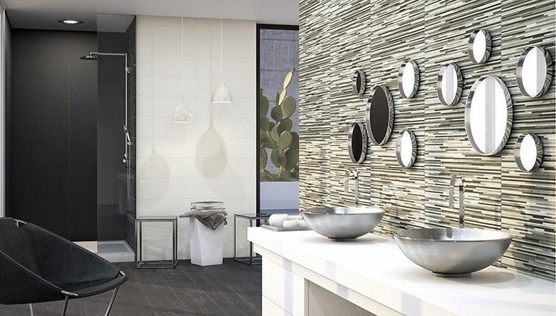 Azulejos Baño Aparici: NEGRO? ¿Y si los combinas? Porcelanite y Aparici lo proponen