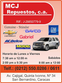 MCJ REPUESTOS,C.A. en Paginas Amarillas tu guia Comercial