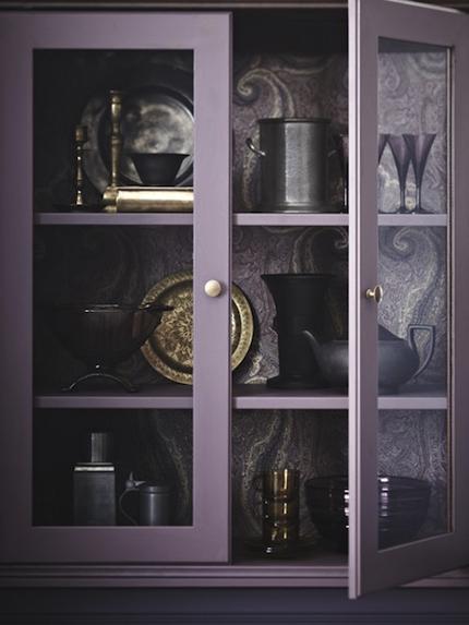 ma maison au naturel du papier peint dans vos armoires. Black Bedroom Furniture Sets. Home Design Ideas