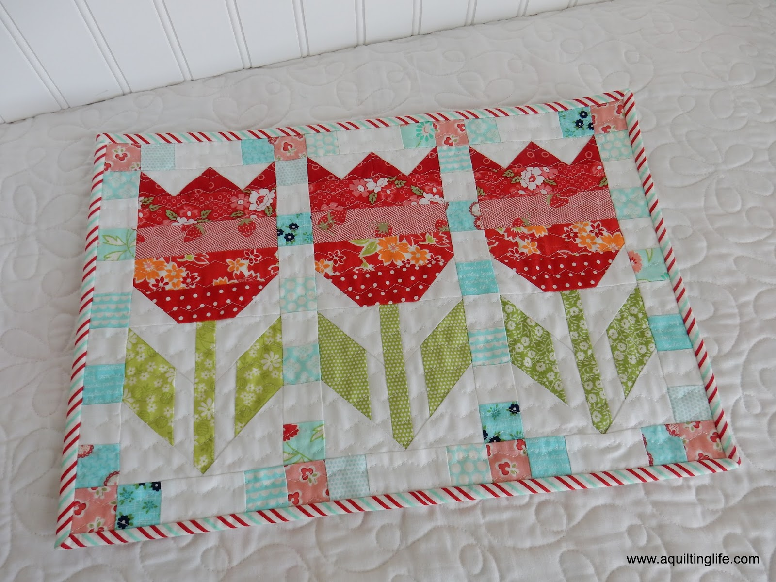 Mini Tulips Quilt Parade A Quilting Life