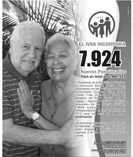 Listas de pensionados por Amor Mayor y el Ivss 19/05/2013