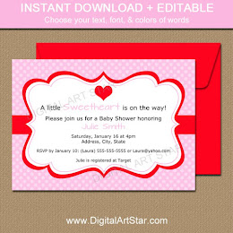 Shop: Editable Valentine Invitations