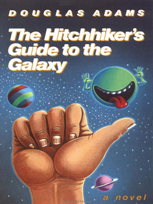 "دليل المسافر إلى المجرة ""The Hitchhiker's Guide to the Galaxy"" by Douglas Adam"