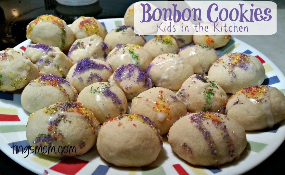 Kids in the Kitchen: Bonbon Cookies | #tingcooks #bugcooks #cookingwithkids #justlikefamily