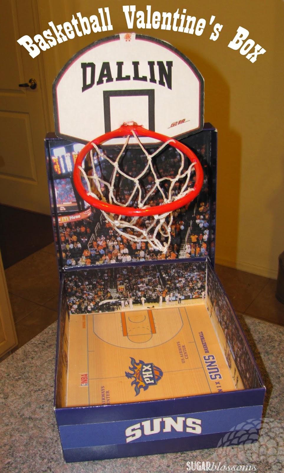 Sweet Sugar Blossoms Basketball Valentine S Box