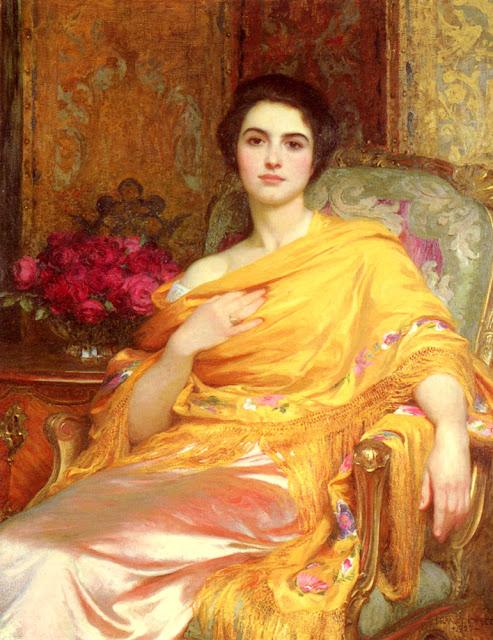 portrait elsa,frank dicksee,victorian art