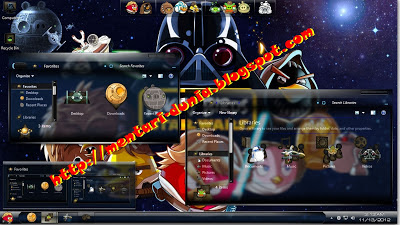 Download Tema Angry Birds Skin pack Transparan windows 7
