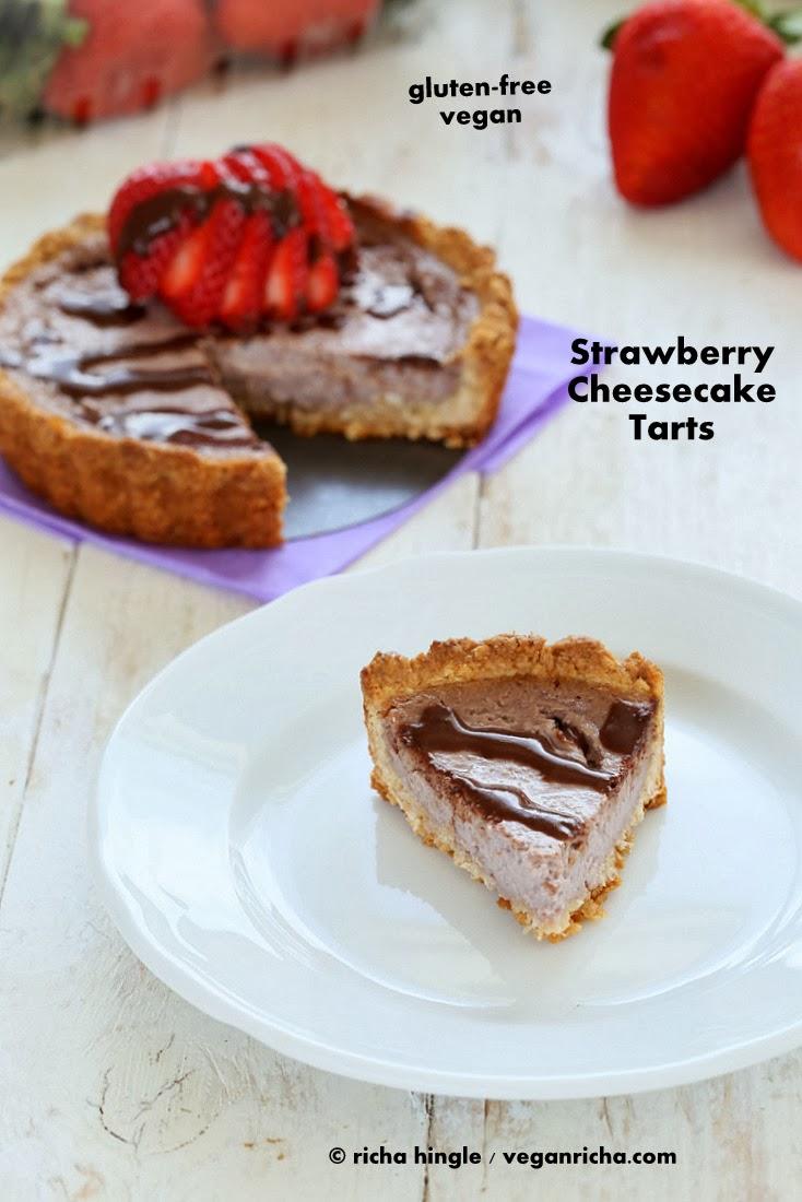 Strawberry Cheesecake Tarts for 2. Glutenfree Vegan Recipe - Vegan ...
