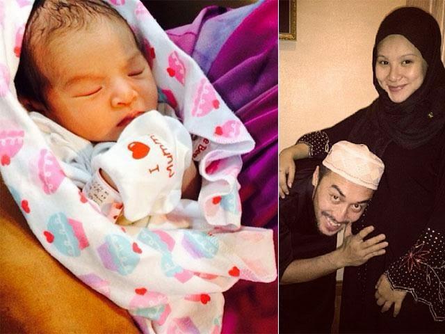 Isteri Apex, Leuniey Natasha Selamat Bersalin Bayi Perempuan