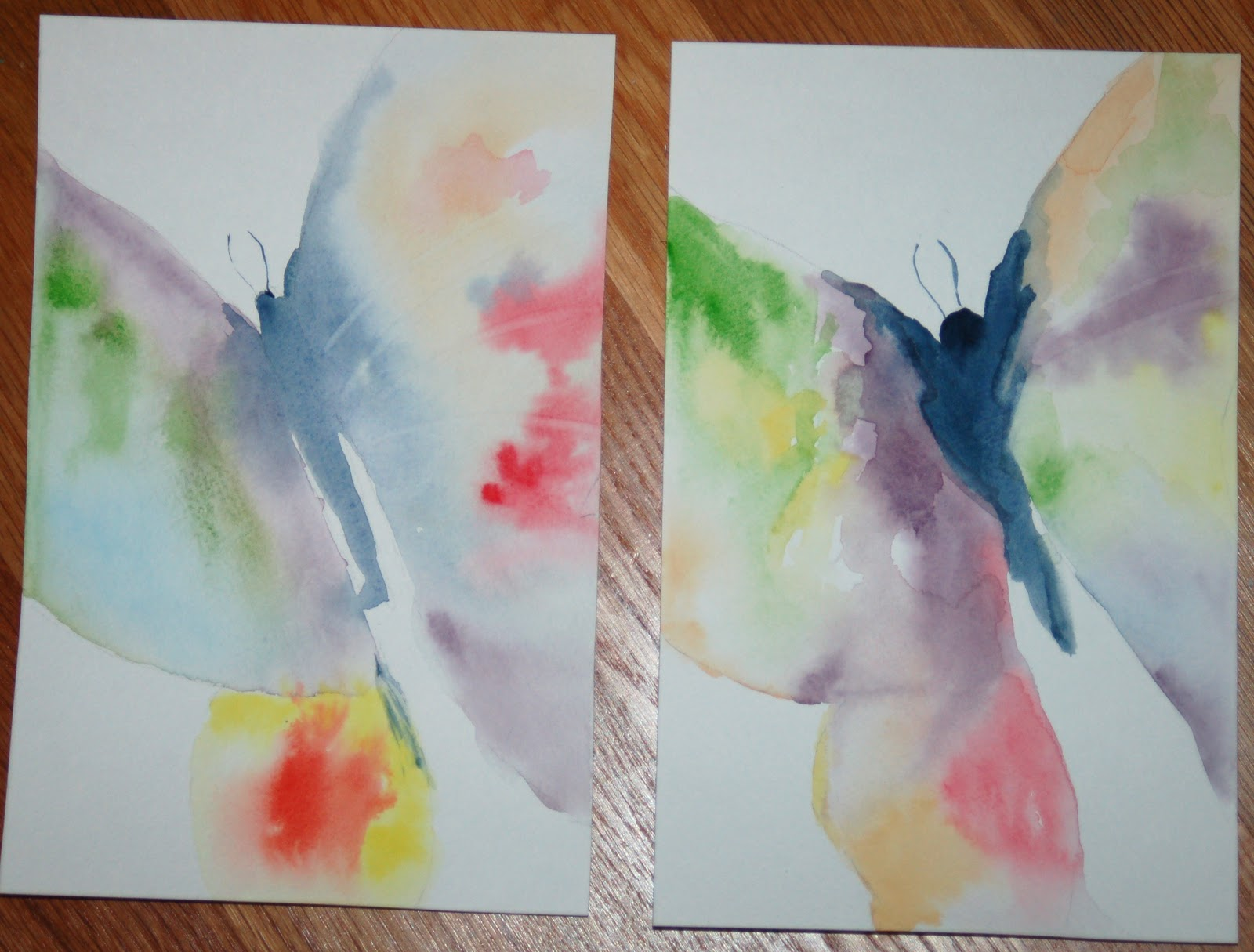 Easy Watercolor Paintings Of Butterflies Simple Watercolor Butt...