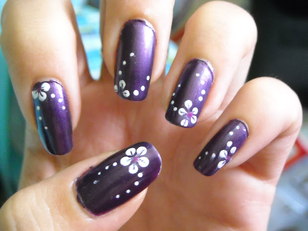 purple nail design - pccala