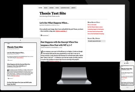 thesis wp theme framework